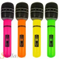40cm Inflatable Microphone Blow Up Rock Roll Party 80s Fancy Dress Accessory