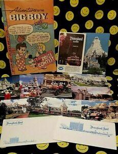 Vintage Disneyland 1972 Summer Guide Book, 9 UNUSED POST CARDS 1972 ,HOTEL NOTES