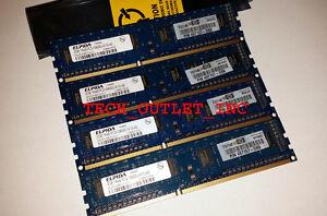 GUARANTEED SAMSUNG DDR3 RAM 2GB x 4 KIT (8GB TOTAL) PC3-10600 DESKTOP MEMORY