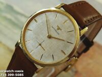 1960's Vintage WITTNAUER Manual Wind, Stunning Silver Dial, Serviced & Warranty