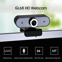 Webcam 12MP eingebautes Mikrofon USB Plug Play Live Course PC Konferenzkamera