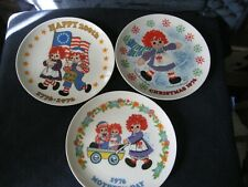 New Vintage Raggedy Ann & Andy-Lot Of 3 Collectors Plates By Schmid Bros.
