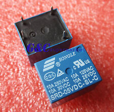 10PCS RELAY 5V SRD-5VDC-SL-C T73-5V SONGLE Power Relay NEW GOOD QUALITY M106