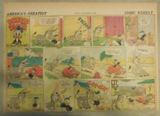 Donald Duck Sunday Page by Walt Disney from 9/1/1940 Half Page Size