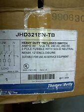 Thomas&Betts JHD321SN-TB Heavy Duty Enclosed Switch 30Amps 240V 3 Pole Fusion