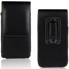 For HTC One X9 X10 Vertical Black Leather Belt Clip Case Cover for Tradesman