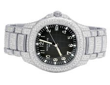 Mens Patek Philippe Nautilus 5167/1a Steel Pave Set VS Diamond Watch 21.5 Ct