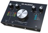 M-Audio M-Track 2X2M Interface Audio/MIDI USB 2-In/2 sorties a 24-bit/192kHz