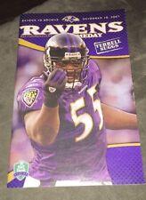 11/18/07 Baltimore Ravens Report Gameday Program-Ravens Vs Browns Terrell Suggs