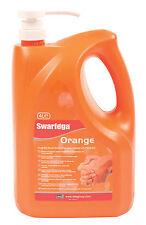 Swarfega Orange 4L Litre Pump Spray Bottle Polygrain Tough Hand Cleaner Cleanser