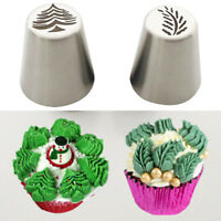 Christmas Tree Icing Piping Tips Russian Leaf Nozzle Cupcake Pastry Baking Tools