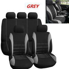 Universal Car Seat Cover 9 Set Full Seat Covers for Crossovers Sedans Grey Deco