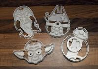 Star Wars Cookie Cutters - BB8, Millennium Falcon, Yoda & Chewbacca