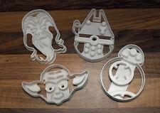 Star Wars Cortadores De Galleta-BB8, Halcón Milenario, Yoda & Chewbacca