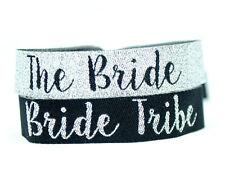 Bride Tribe Silver & Black Hen Party Wristbands / Bachelorette Party Bracelets