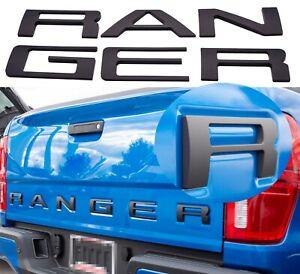 0.32IN Raised Tailgate Inserts Letters EMBLEM For Ranger 2019-2021(Matte Black)