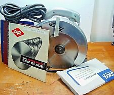 "Vintage & Tested SkilSaw #554 Builders Line 11.Amp 8-1/4"" Circular Saw  W/Blades"