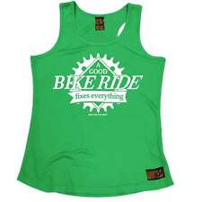 WOMENS A Good Bike Ride Fixes Everything Breathable cycle GIRLIE TRAINING VEST