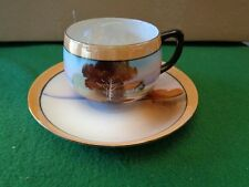 Vintage Chikkaramachi - Made in Japan - Lustreware Cup & Saucer - Hand-Painted