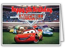 Lightning McQueen / Cars Birthday Card  - Personalised with Any Name & age