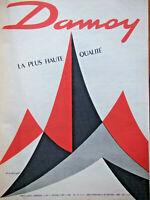 PUBLICITÉ DE PRESSE 1960 DAMOY LA PLUS HAUTE QUALITÉ - GUY GEORGET