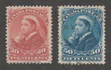 KAPPYSSTAMPS 11918-41 CANADA SCOTT  46 47 USED XF SUPERB  RETAIL $175