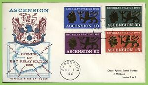 Ascension 1966 BBC Relay Station set on First Day Cover
