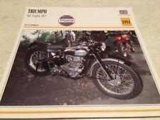 Carte motorrad Triumph 500 Trophy TR5 1951 collection Atlas motorbike UK