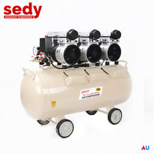 80L Silenced Air Compressor Oil Free Noiseless Quiet Workshop Garage Home 15CFM