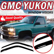 Fit 92-99 GMC Yukon Smoke Window Visor Slim Tape On Guard Vent Shade 2PC Acrylic