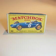 Matchbox Lesney 52 b B.R.M Racing Car BRM empty Repro E-E1 style Box