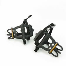 """VP Components VP-335T Bike Bicycle Ball Bearings 9/16"""" Toe Clip Pedals - Black"""
