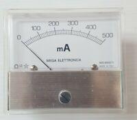 MEGA ELETTRONICA 500 mA  Mod.NN 55/TL MILLIAMPEROMETRO  NUOVO  VEDI FOTO