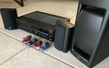 JVC Surround Sound System Receiver, Subwoofer Speakers, Remote Tested Working!