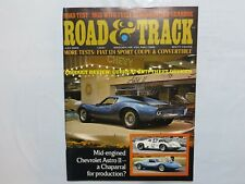ROAD & TRACK July 1968 Chevrolet Astro II MGB Fiat 124 Sport Coupe Jaguar 420 T6