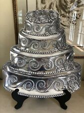 "RARE Retired Mariposa Brillante Wedding Cake Platter 17"" Gorgeous!!"