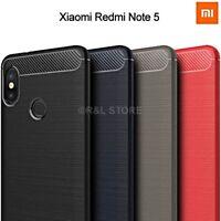 COVER per Xiaomi Redmi Note 5 CUSTODIA MORBIDA Originale CARBON FIBER CARBONIO