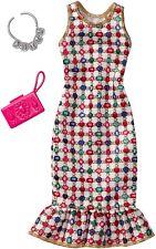 Mattel Barbie Fashions Complete Look - Multicolored Gem Dress New