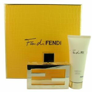 Fan Di FENDI Women Perfume EDP Set 2.5oz 75ml+2.5oz Body Lotion NIB Fast Ship