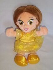 "Disney World Beauty & The Beast 11"" Plush Belle Doll Yellow Dress Stuffed Animal"