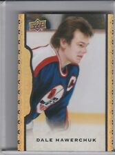 2014-15 UD MASTERPIECES #109 DALE HAWERCHUK FRAMED BLACK LEATHER JETS 3/50 1055