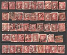 PENNY RED PLATES ALL WITH EDINBURGH CANCELS