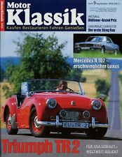 Motor Klassik 9/93 1993 Alpine A 110 Lotus Europa ASA 1000 GT Mercedes SL107 TR2