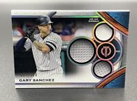 Gary Sanchez 97/150 2021 Topps Tribute Stamp of Approval SOA-GS New York Yankees