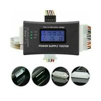 20/24 4/6/8 PIN LCD Computer PC ATX Power Supply Tester Tool for SATA IDE HDD