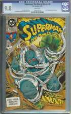Superman Man Of Steel #18 Cgc 9.8 White Pages Id: 2995
