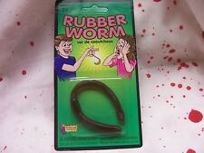 1 Piece Faux Rubber Worm Bug Crafts Halloween Prop Decoration Joke Gag NIP