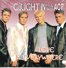★☆★ CD SINGLE CAUGHT IN THE ACTLove is everywhere 2-track CARDSLEEVE NEW SEALED