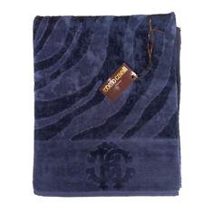 Roberto Cavalli bath sheet ZEBRAGE - blue