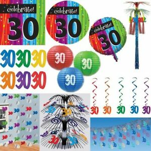 30. Birthday Party Decoration Number 30 Colourful Decoration Set Number Party